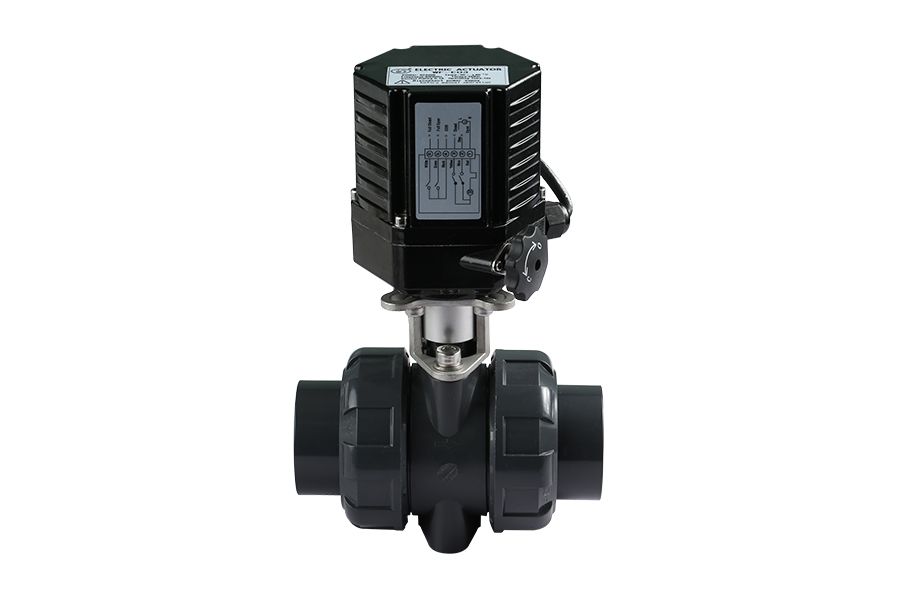 UPVC Electric Actuator True Union Ball Valve
