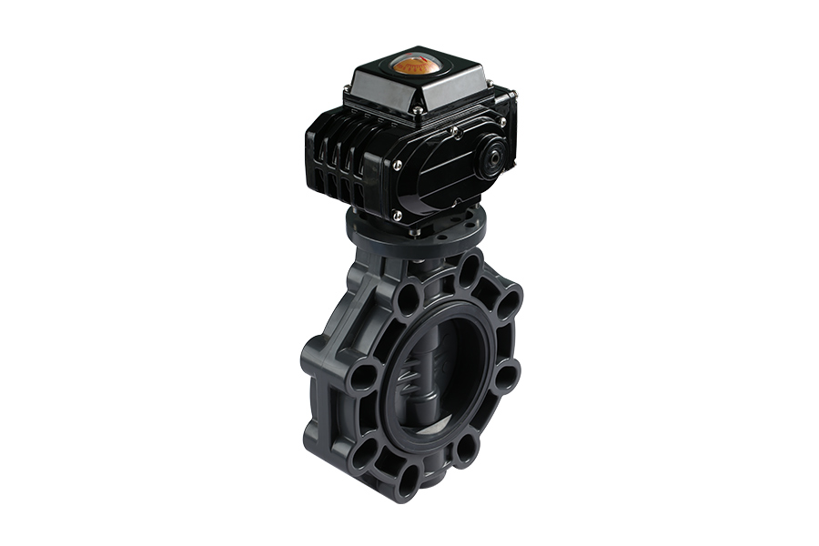 UPVC Electric Actuator Butterfly Valve